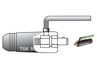 Разъем силовой TIG 50 с газовой трубкой