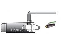 Разъем силовой TIG 25 с газовой трубкой