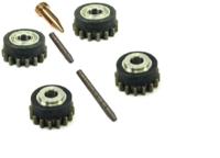 Комплект роликов к проволокоподающему устройству FE (MC/FC) V0.8-0.9 HD DURATORQUE KIT №1, Kemppi, F000210