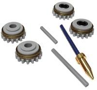 Комплект роликов к проволокоподающему устройству SS (FE,CU) V0.6 DURATORQUE KIT №2, Kemppi, F000329