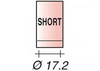 Сопло TIG 17/18/26 газ. линза  короткое  D17.2